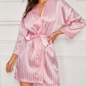Victoria Secret Pink Stripped Angel Robe